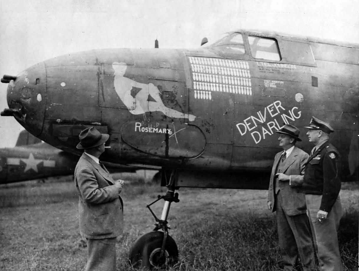 416th Bomb Group 668th Bs A 20 43 9380 Denver Darling Nose Art England Nose Art Art Aircraft Wing
