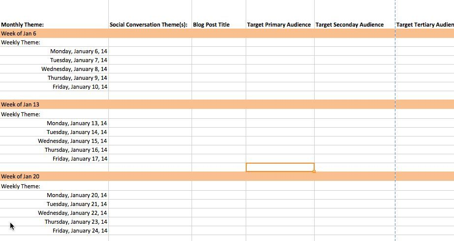 Content Marketing Editorial Calendar Template 2014 #Contentmarketing