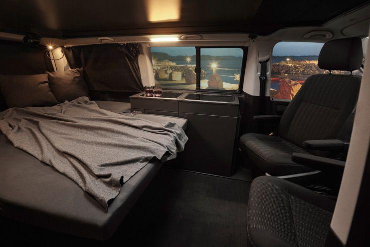 Wohnmobil Mit Breitem Bett Und Kuche Im Vw Bus Ultra Furniture