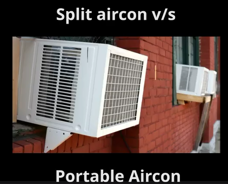 Split air conditioners vs. Portable Air Conditioners or