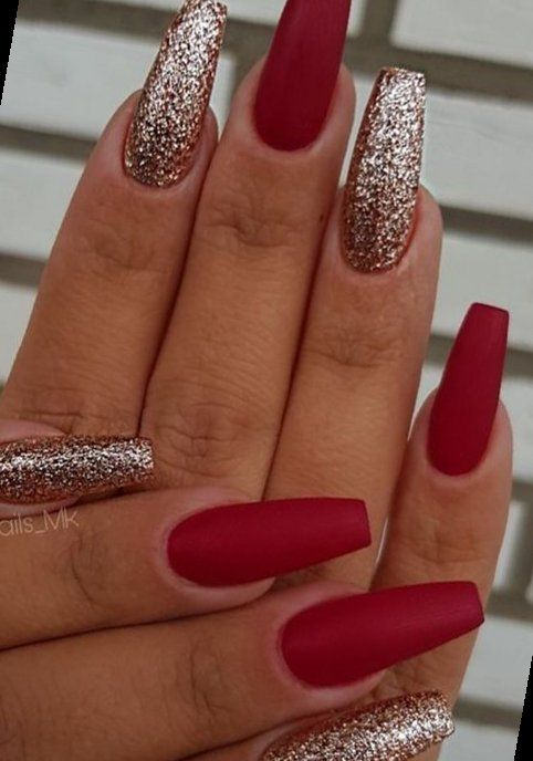 12+    Christmas Nails Acrylic Coffin   2020 This