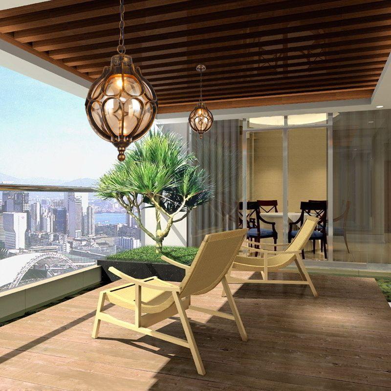 A1personalized Vintage Pendant Lamps Simple Outdoor Balcony Corridor