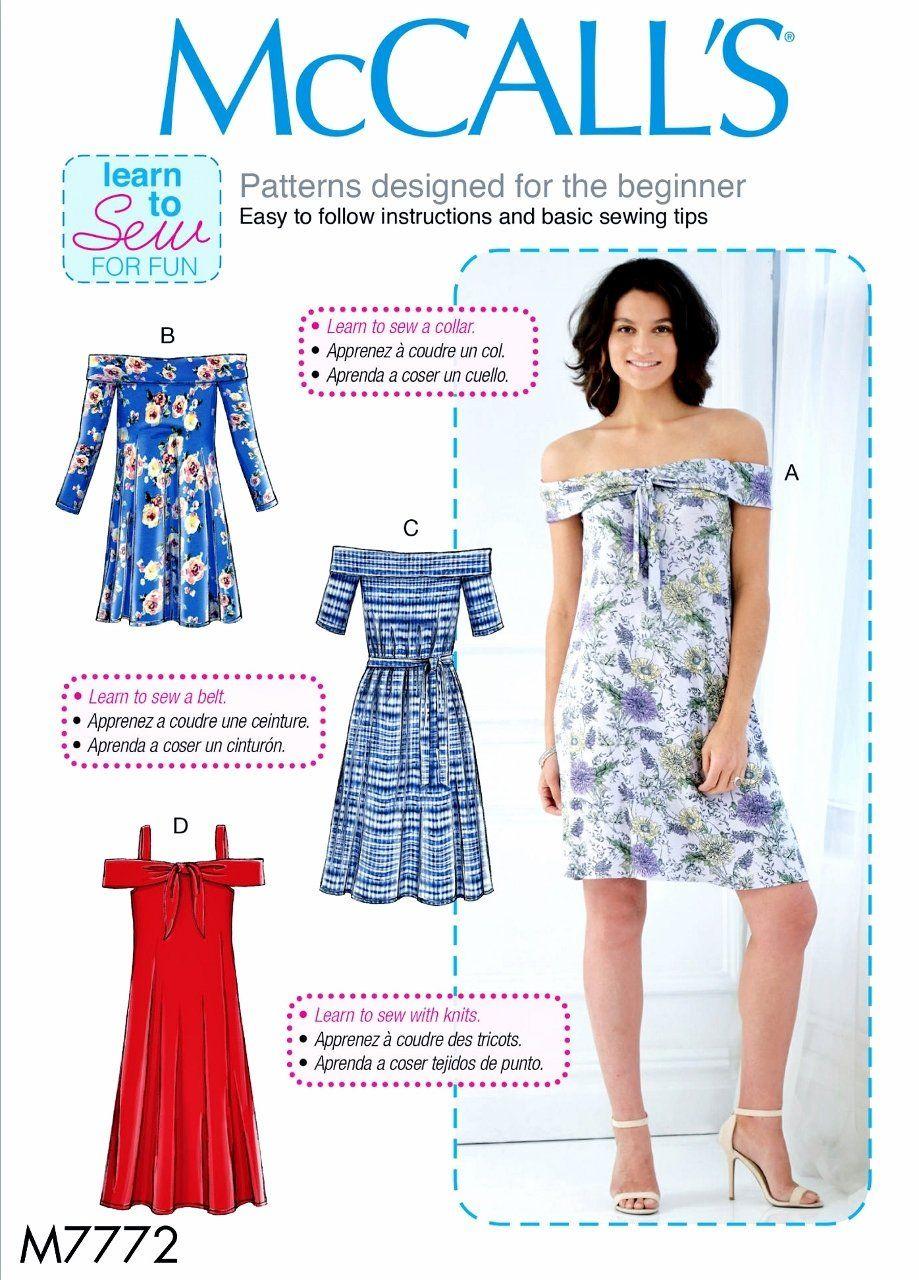 Sewing Pattern Women\'s Bare Shoulders Dress Pattern, Learn to Sew ...