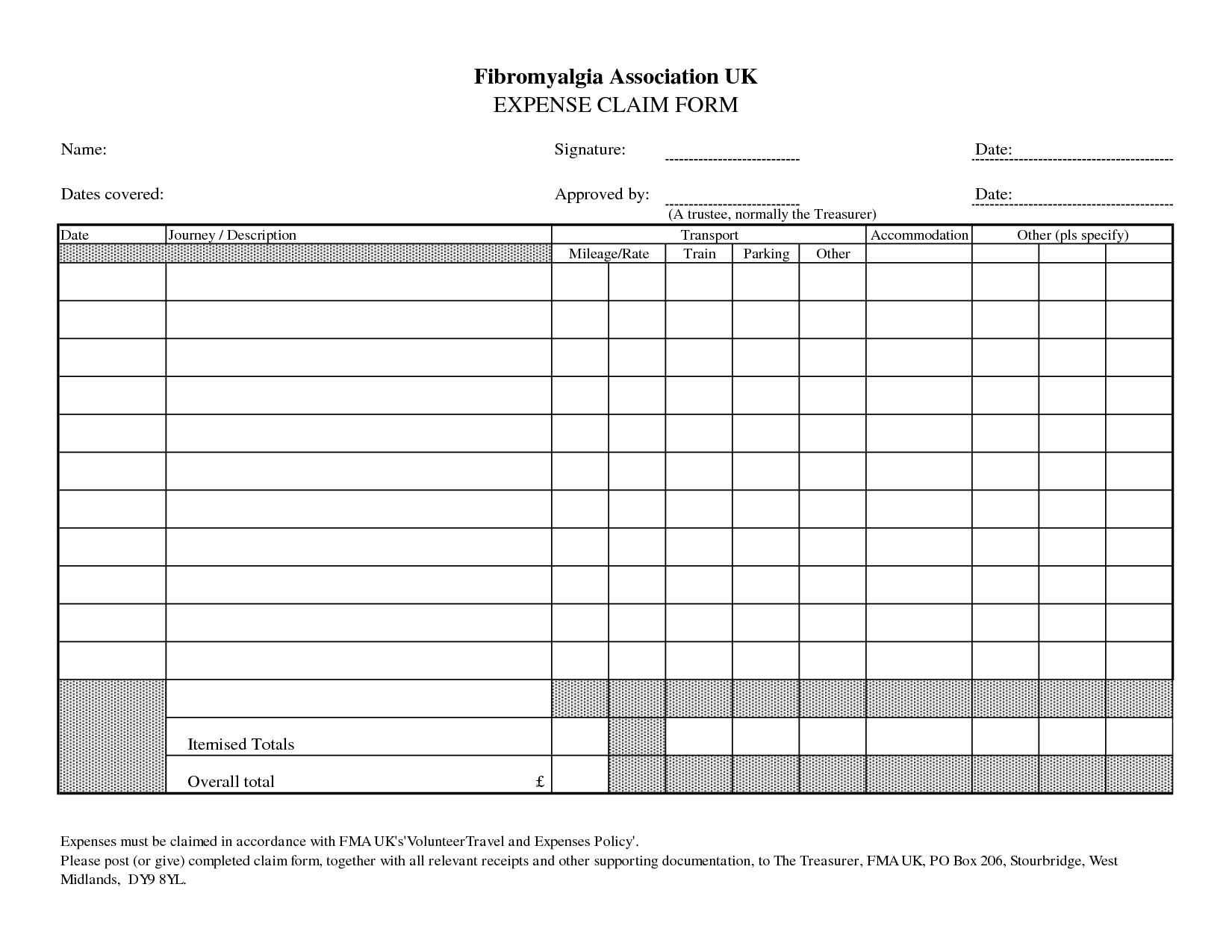 Expense claim form is a document used to provide details about small expenses in order to get them back from the … Psihologic Compila Aparține Per Diem Form Tdownsdustlessblasting Com