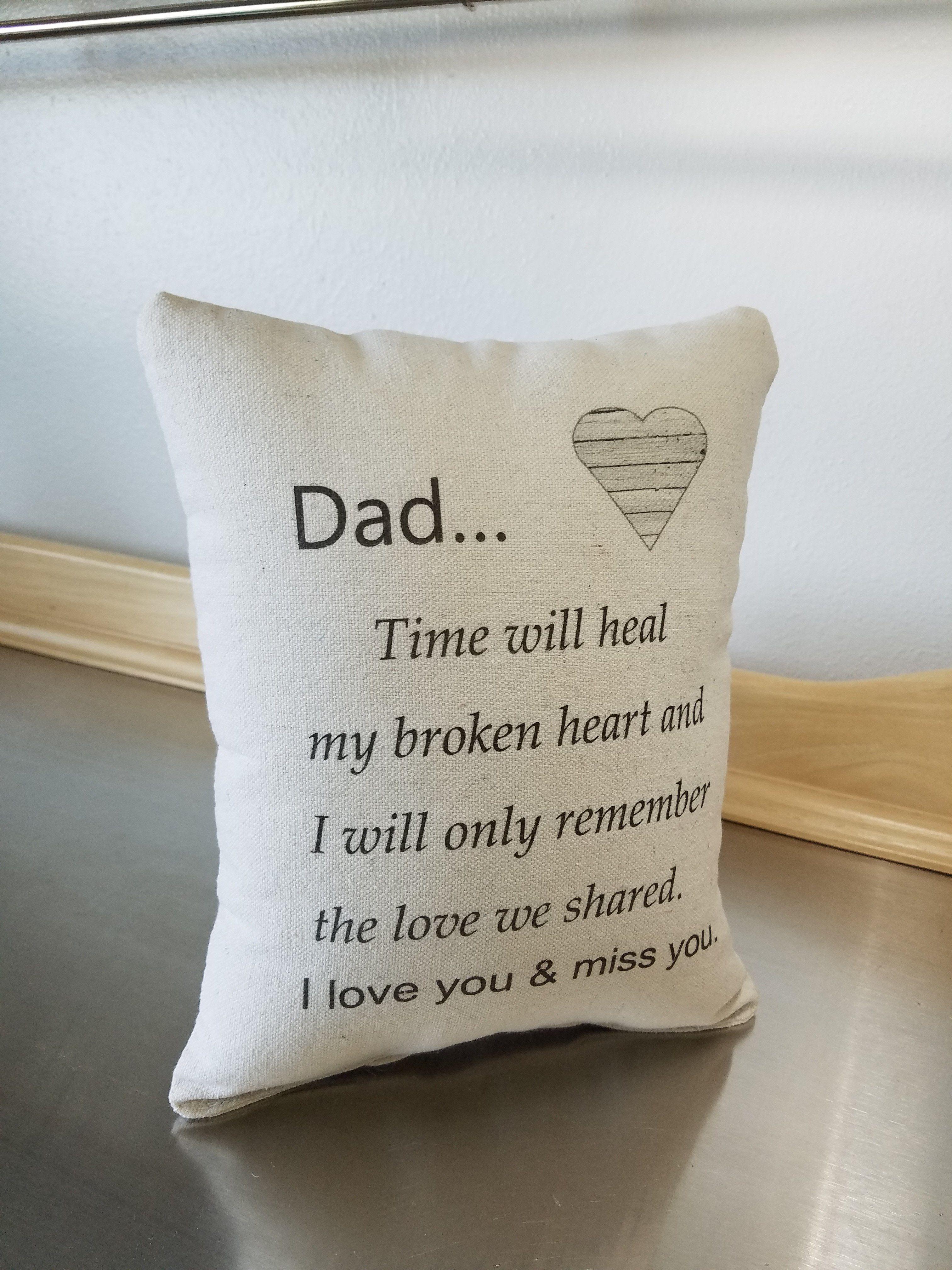 Dad memory pillow throw pillow sympathy gift pillow loss