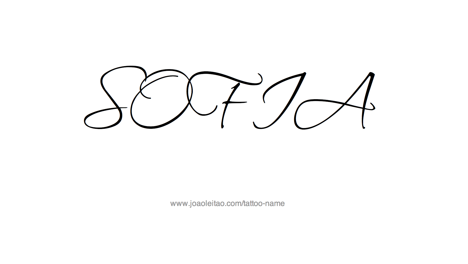 Sofia Name Tattoo Designs Tatuajes Tatuajes De Nombres Sofia