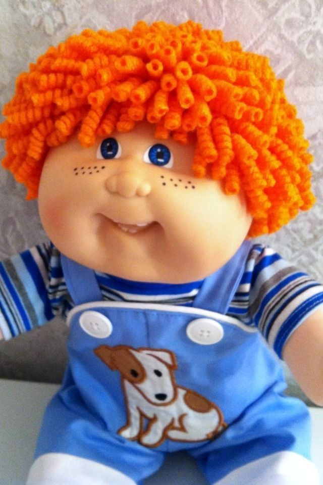 Vintage Cabbage Patch Custom Pencil Curl Reroot 19 Freckles Boy Clothes Shoes Cabbage Patch Babies Cabbage Patch Kids Boy Cabbage Patch