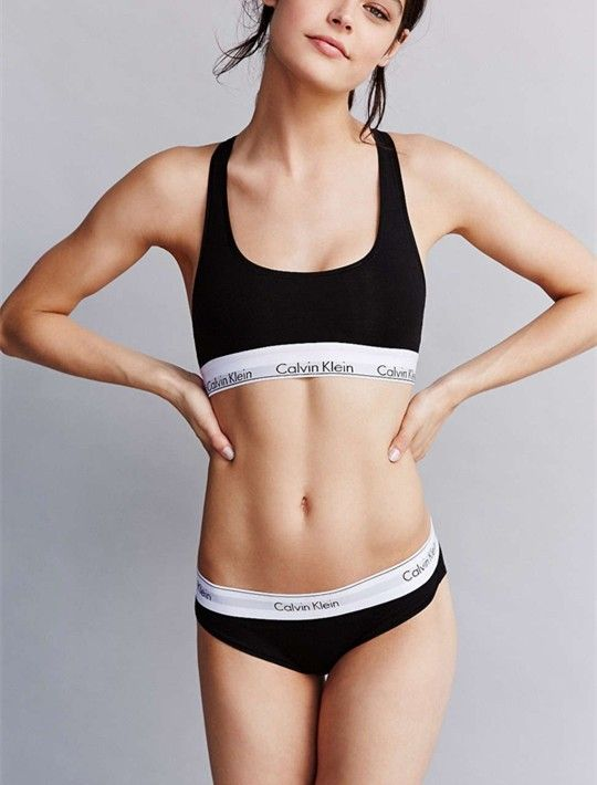bbee1562cfe0b calvin klein woman Sports Bra   Thong set underwear Women Bras Underwear  Seamless Without Steel Prop Sleep cotton vest bra women