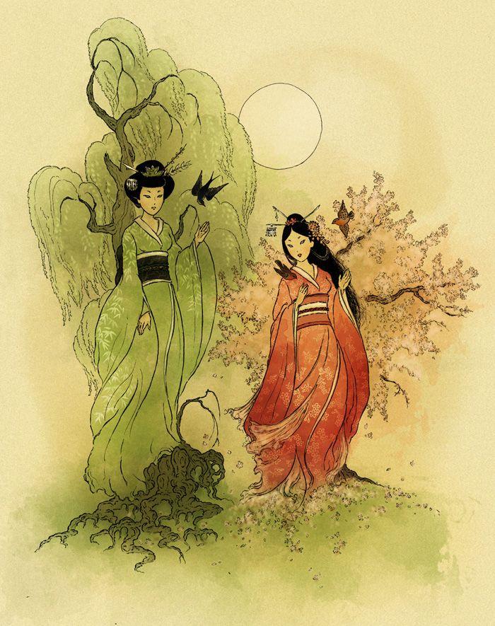 More Shinto Goddesses Art Japanese Art Goddess Art