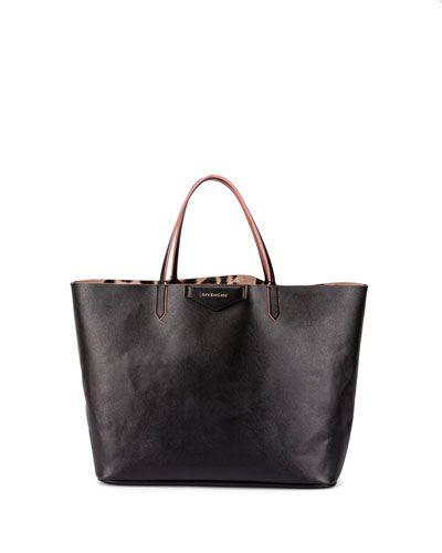 V2QZE Givenchy Antigona Large Leopard-Interior Shopper Bag  30f576a9cd0f7