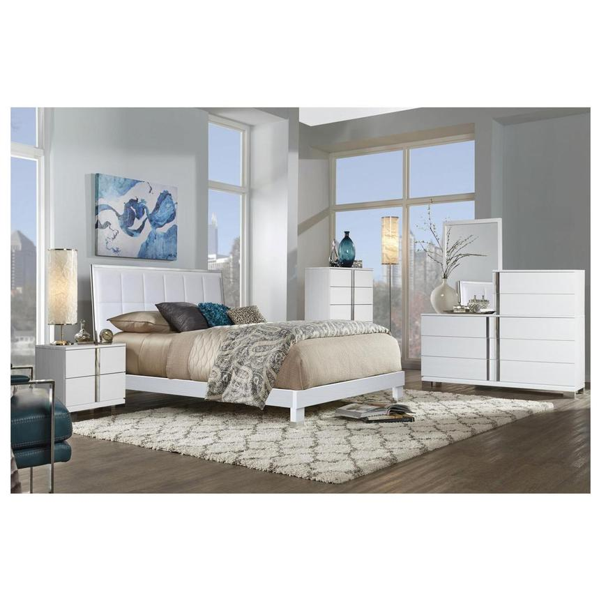Venezia White Full Platform Bed Made In Brazil El Dorado Furniture Full Platform Bed Platform Bed How To Make Bed