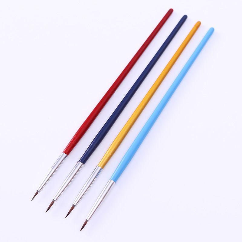 4pcsset Nail Art Paint Brush Kit Liner Drawing Pen Painting Nail