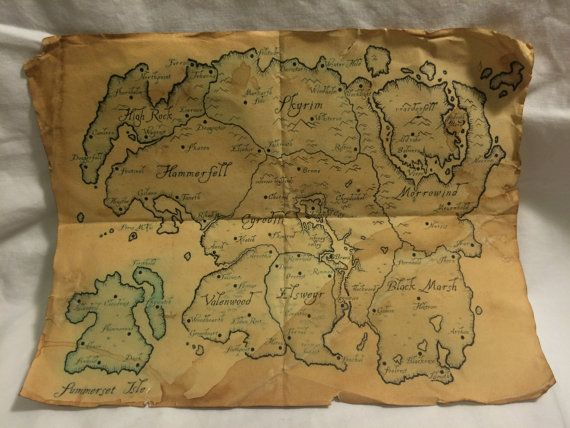 Map of Tamriel from The Elder Scrolls | Stuff i need in 2018 ...