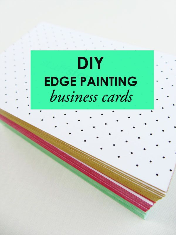 how to edge paint business cards/I print my own -how cool to make ...