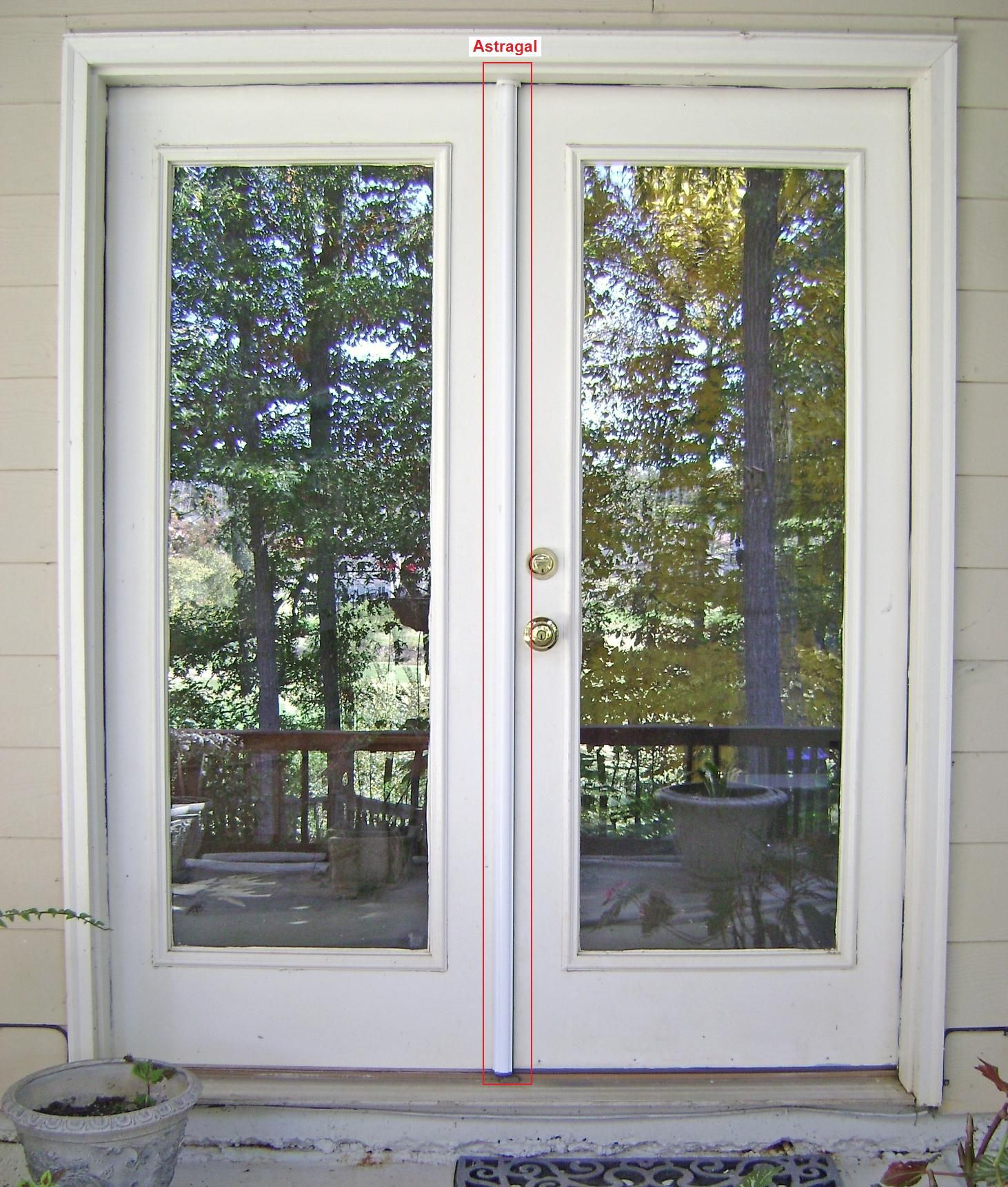 Simple french door, no panes, hopefully smoked or