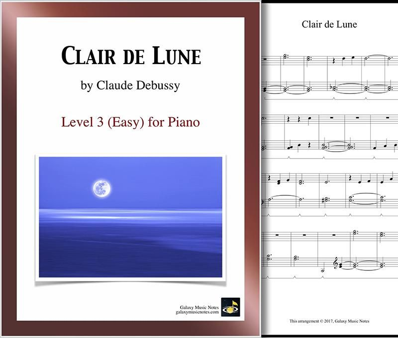 Clair De Lune Level 3 Piano Sheet Music With Images Piano