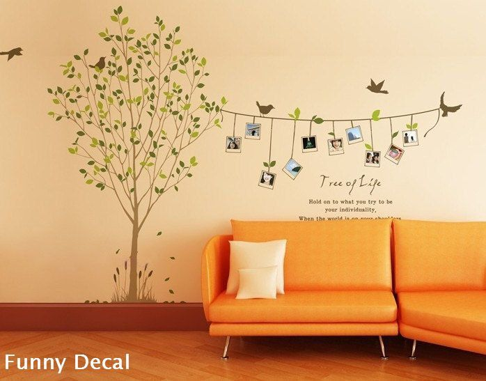 Photo tree---Vinyl Wall Decal Tree Wall Decals Wall stickers Nursery ...
