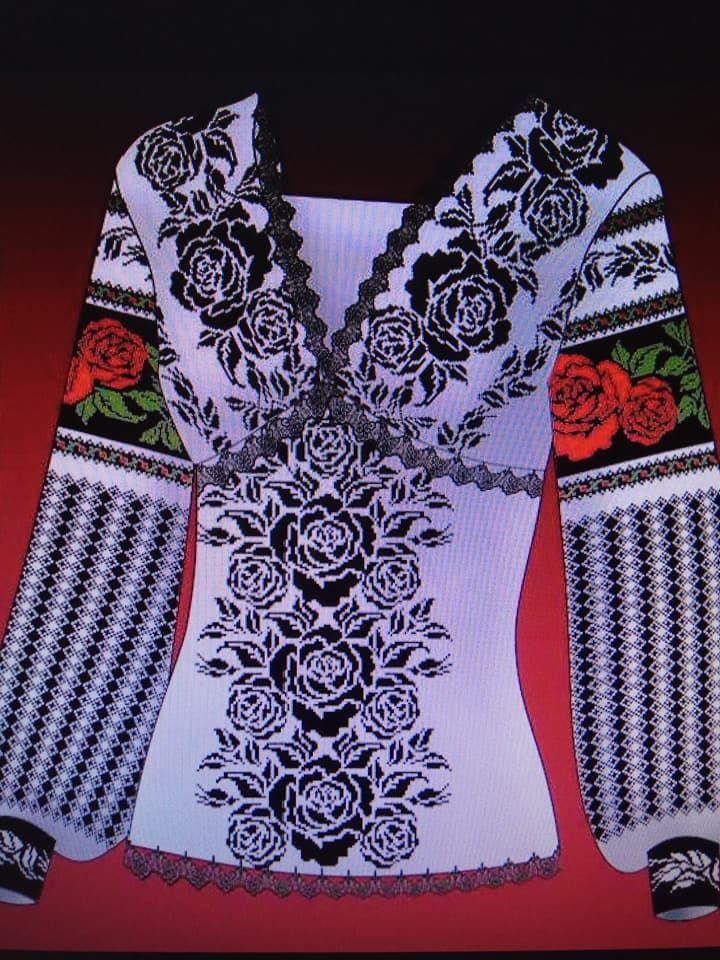 Сучасний набір для вишивання борщівської сорочки хрестиком eca88936c7e6f