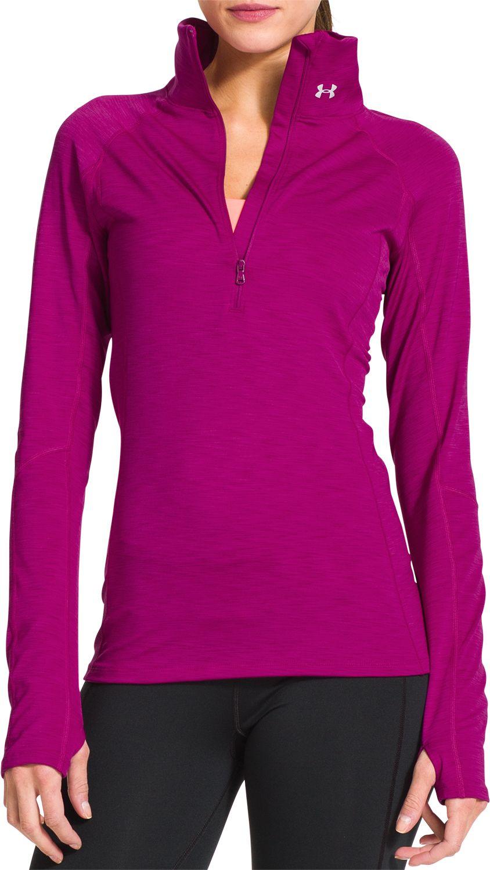 Under Armour ColdGear Womens Long Sleeve Running Top Pink