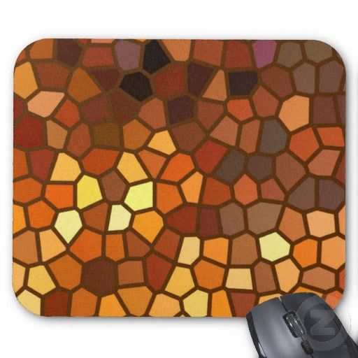 Autumn Mosaic Abstract Mousepad