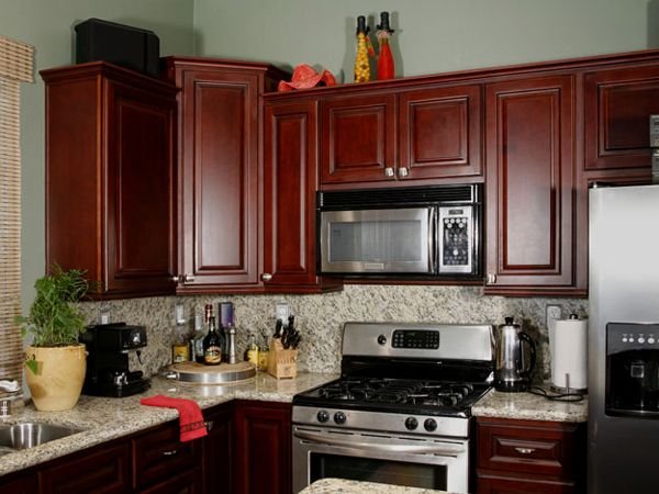 12 Exceptional Ideas Of The Cherry Kitchen Cabinets In Modern Kitchen Cherry Cabinets Kitchen Small Kitchen Wall Cabinet Kitchen Wall Cabinets