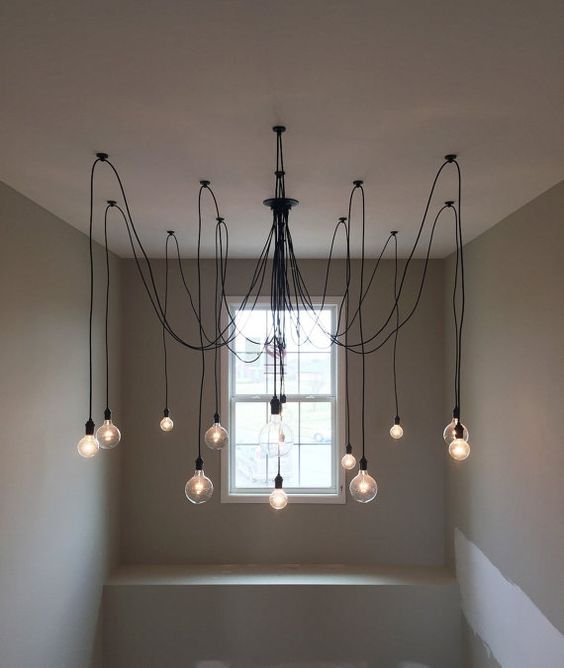 Nice 14 Pendant Custom Any Colors Choices Swag Multi Pendant Chandelier Lighting  Modern Chandelier Cloth Cords Industrial Pendant Lamp Hanging