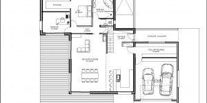 Plan du RdC du modèle type 20 | Maison ossature bois, Construction bois, Plan maison 100m2