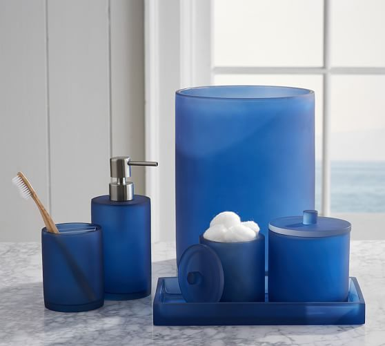 Serra Mix And Match Bath Accessories Navy Blue Blue Bathroom