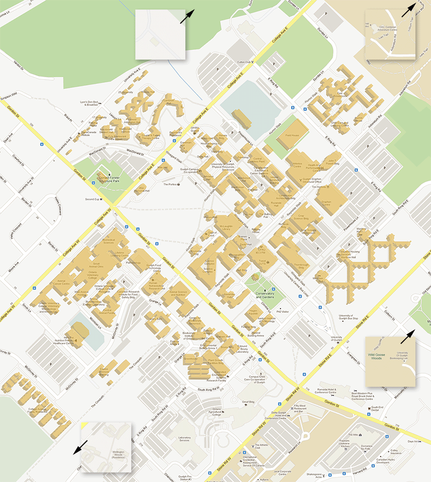 University Map Click On Conservatory Its Actually Down - Guelph map