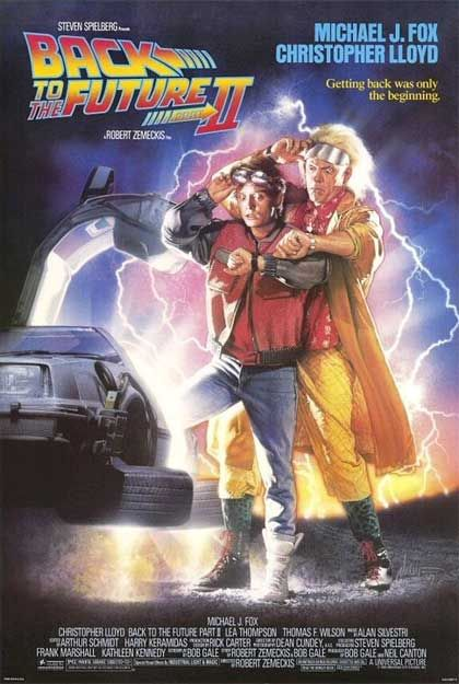 Back to the Future Part II | Ritorno al futuro parte II | Un film di Robert Zemeckis. Con Michael J. Fox, Christopher Lloyd, Lea Thompson, Thomas F. Wilson, Elisabeth Shue.  Titolo originale Back to the Future Part II. Fantastico, Ratings: Kids, durata 107' min. - USA 1989.