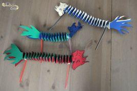 Activité Enfants   Bricolage   Dragon Du Nouvel An Chinois Fait Maison    DIY   Découpage