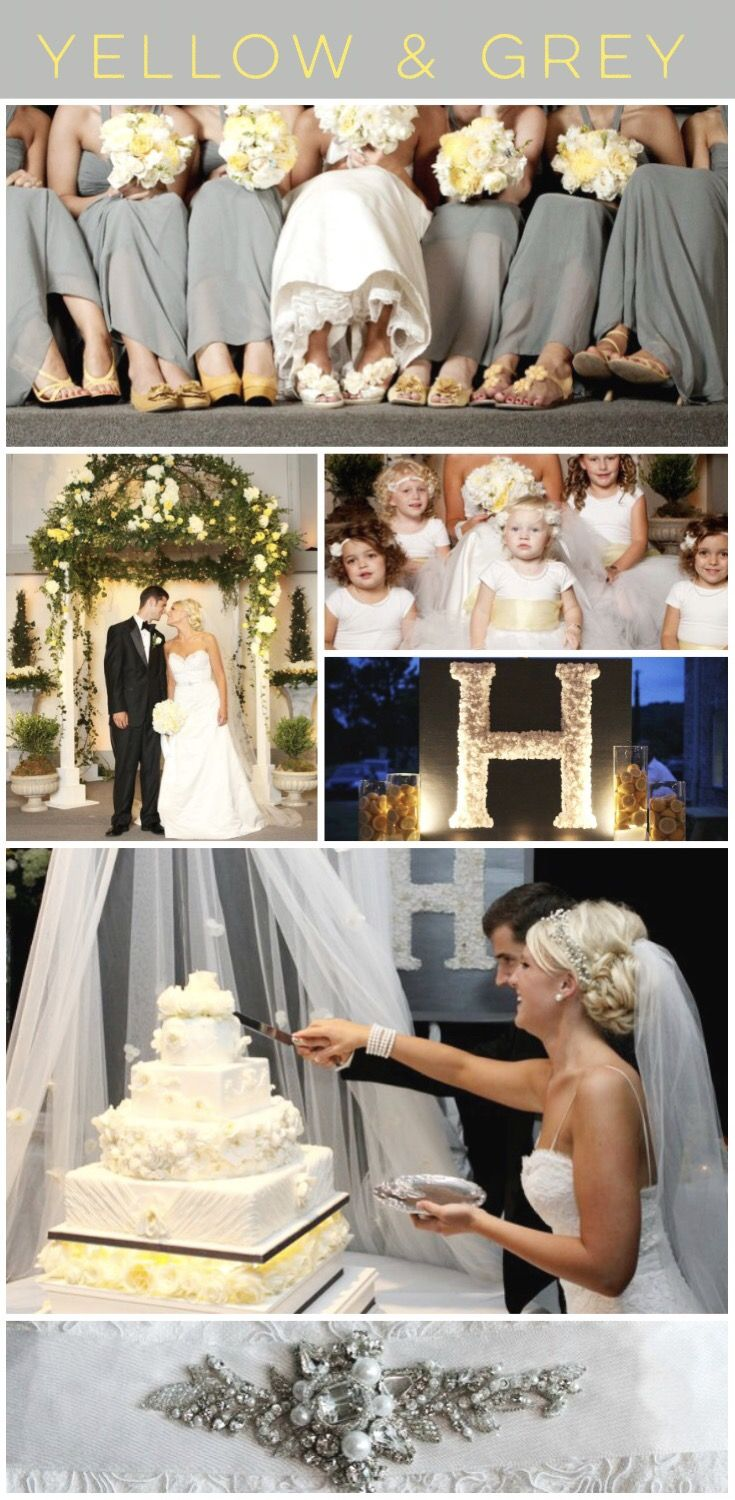 Yellow And Grey Theme Wedding For A Cloudy And Sunny Day Beautiful