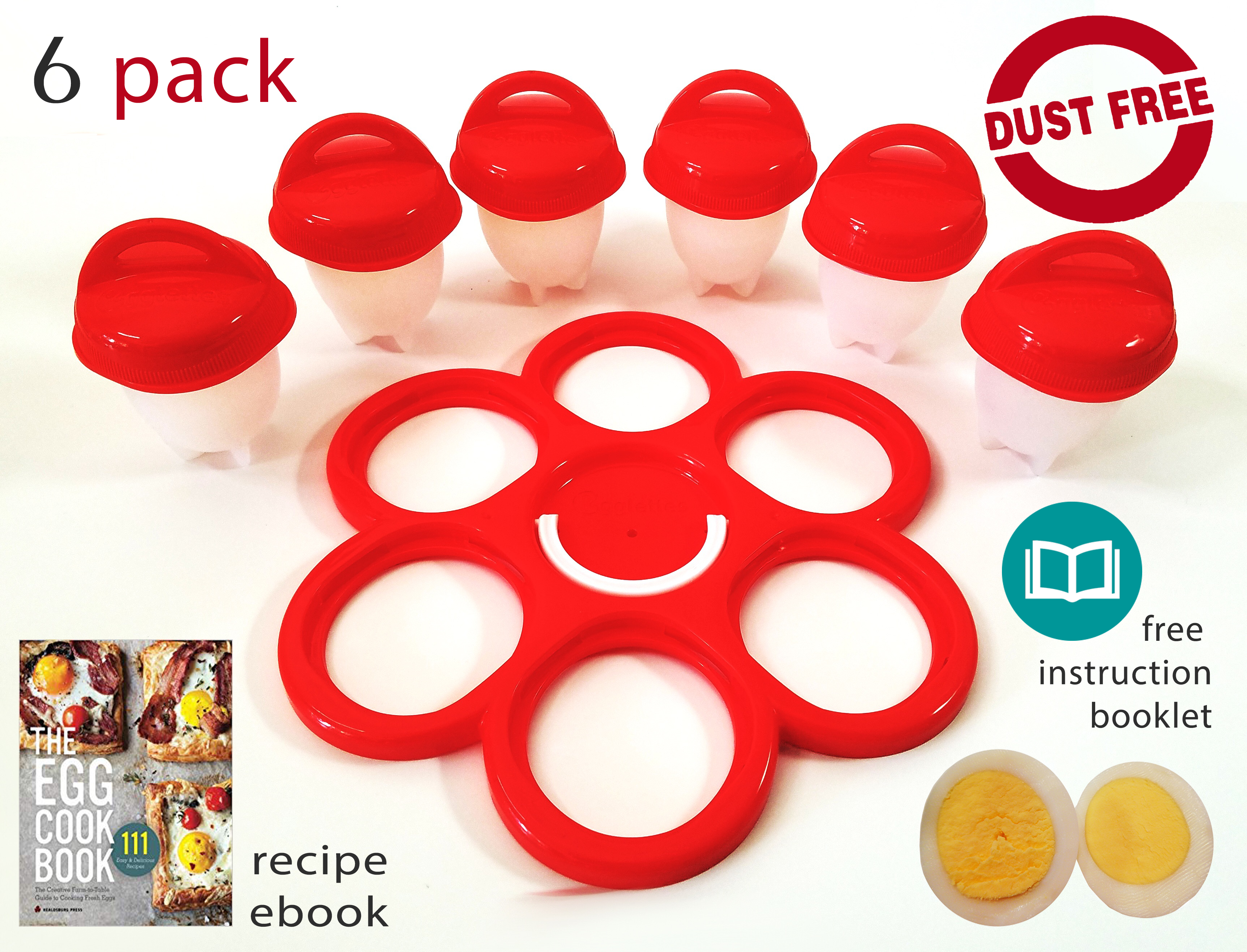 AS SEEN ON TV. Includes Recipe Book Boiled Egg Cooker Hard & Soft ...
