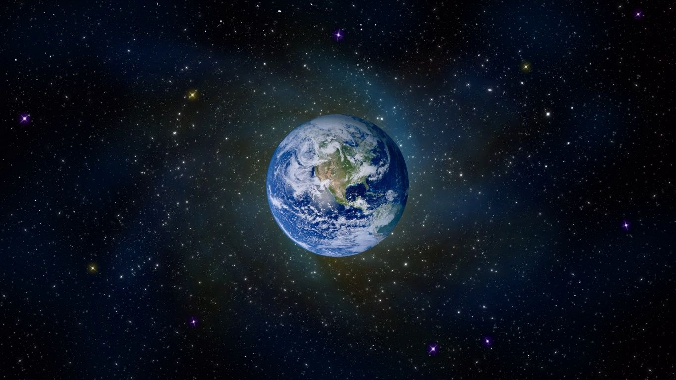 Earth Seen From Space X768 Wallpaper