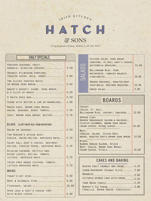 Beautiful restaurant menu designs