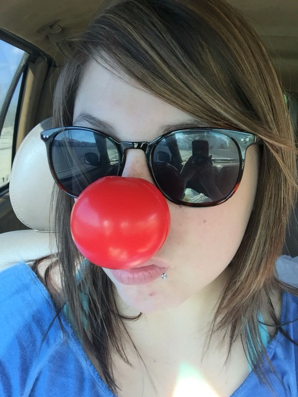 Donated to Ronald McDonald foundation at Walgreens. Received a clown nose, to add to my collection of noses.