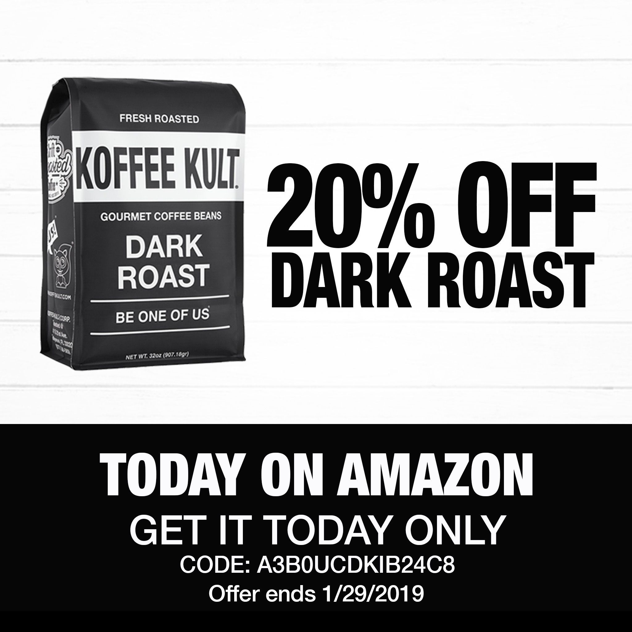 20 Off Koffee Kult Dark Roast Coffee Only On Amazon Today Only