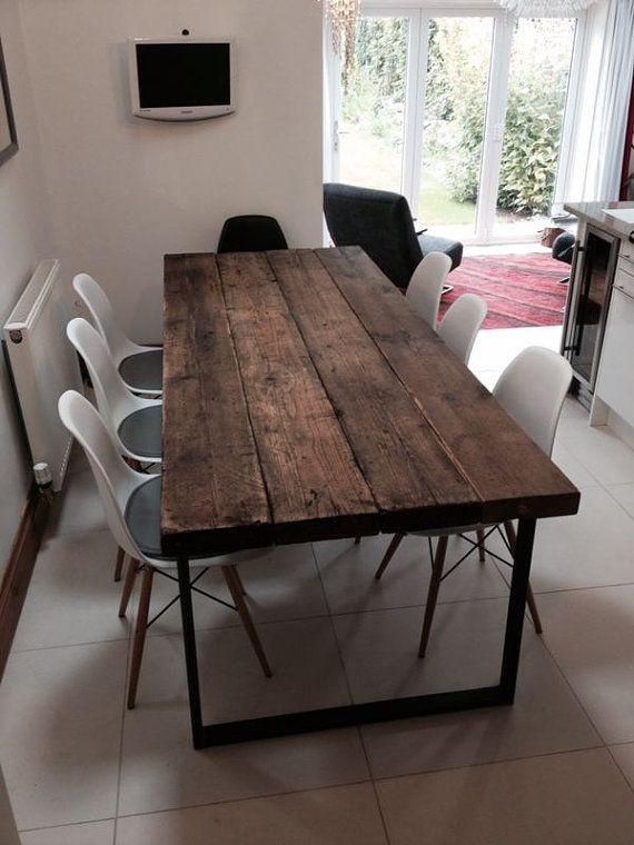 Reclaimed Industrial Chic 6 8 Sitzer Esstisch – Bar Cafe