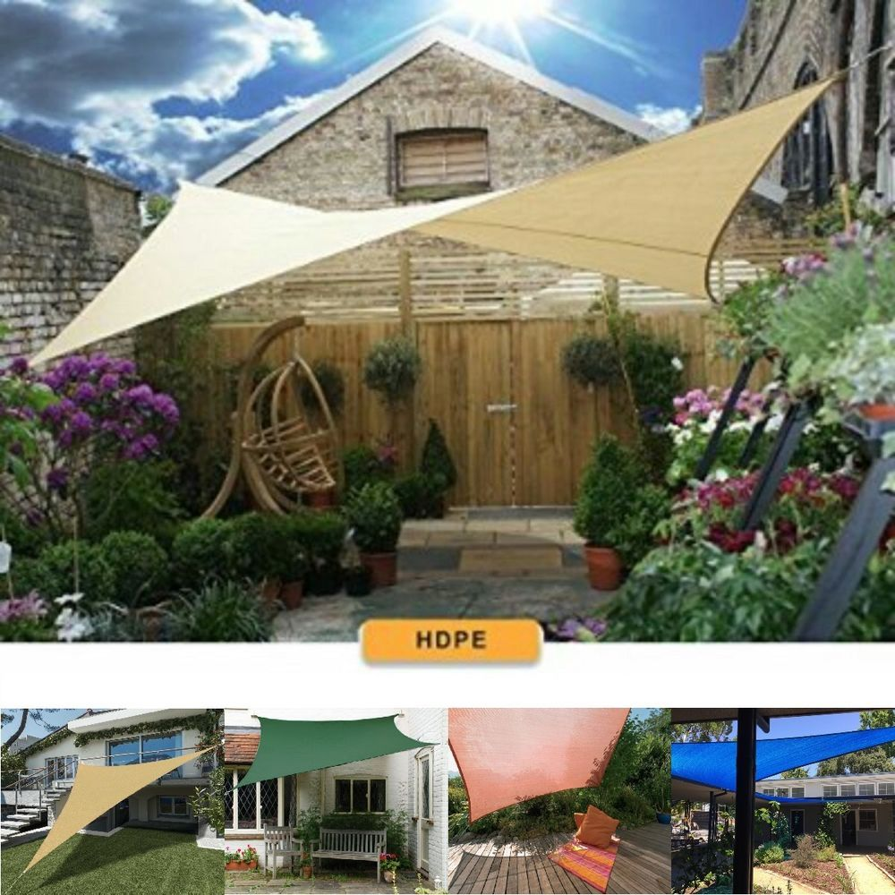 Sun Sail Shade Awings Canopy Garden Sun Summer Cover with Rope For Home//Garden