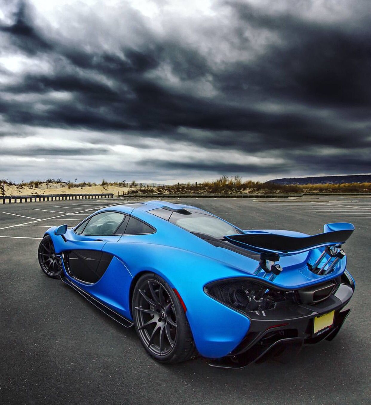 McLaren P1 painted in Satin Cerulean Blue w/ exposed Carbon Fiber Photo taken by: @drivingforceclub on Instagram (@jdcohenmd on Instagram is the owner of the car)