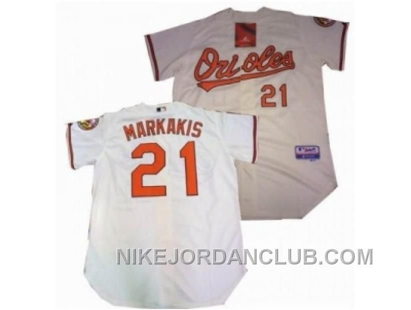 a4fc91cfd ... MLB Jersey 21 httpwww.nikejordanclub.commlb-baltimore-orioles- Baltimore  Orioles 21 Nick Markakis White Home Womens Fashion ...