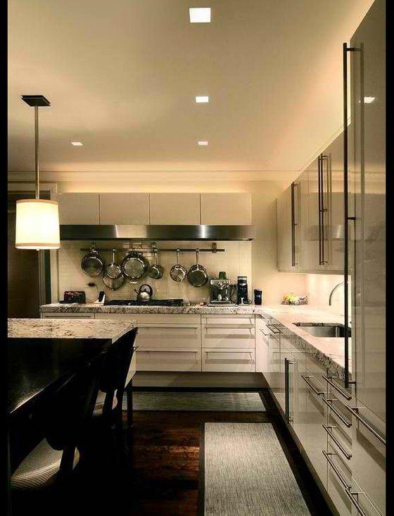 Lighting design by Kara Manning at Lightology. Aurora Square Recessed by  Pure Lighting. Interior Design Trends 2014 ...