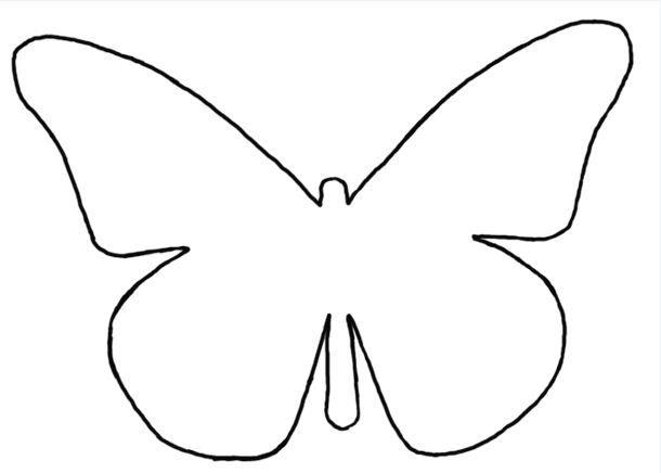 Vlinder Patroon Sjabloon Butterfly Pattern Template