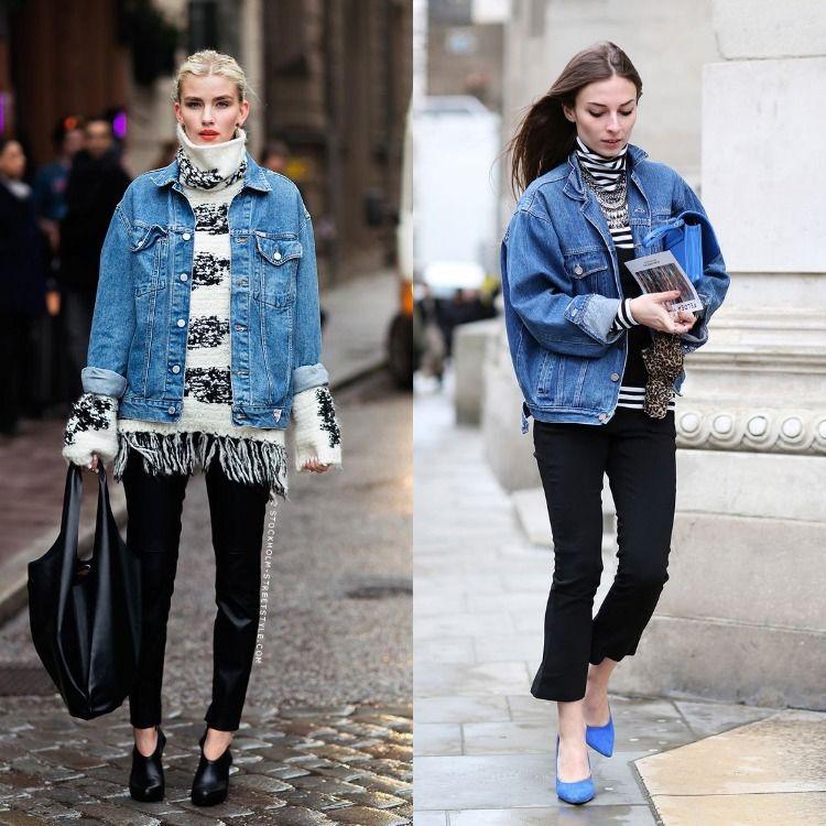 Oversize jeansjacke kombinieren