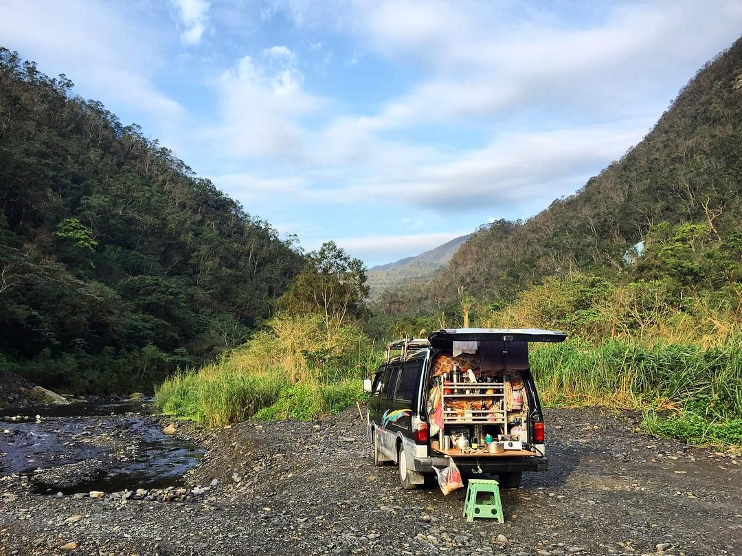 "cntraveler: """"On a visit to the hot springs in Yilan county we took some time out to go hiking in the nearby mountains. We were met with some spectacular views over the valley and out to the ocean and some pretty darling camping spots as well."" - @_itsbeautifulhere #TravelerInTaiwan"""