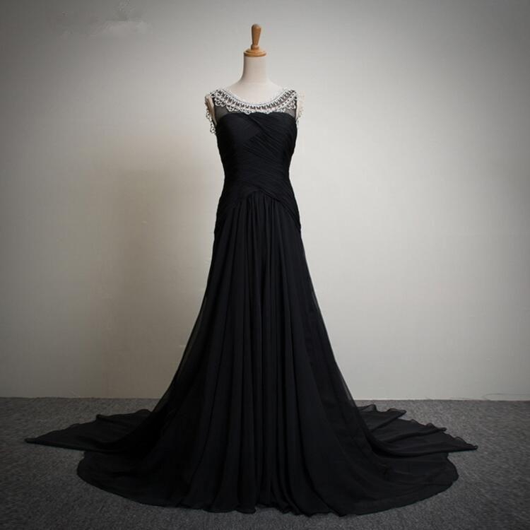 black top quality rhinestones women dress party dress
