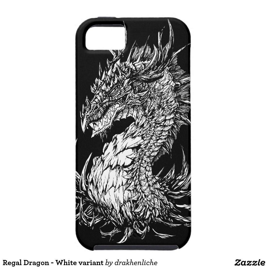 Regal Dragon - White variant iPhone 5 Cover