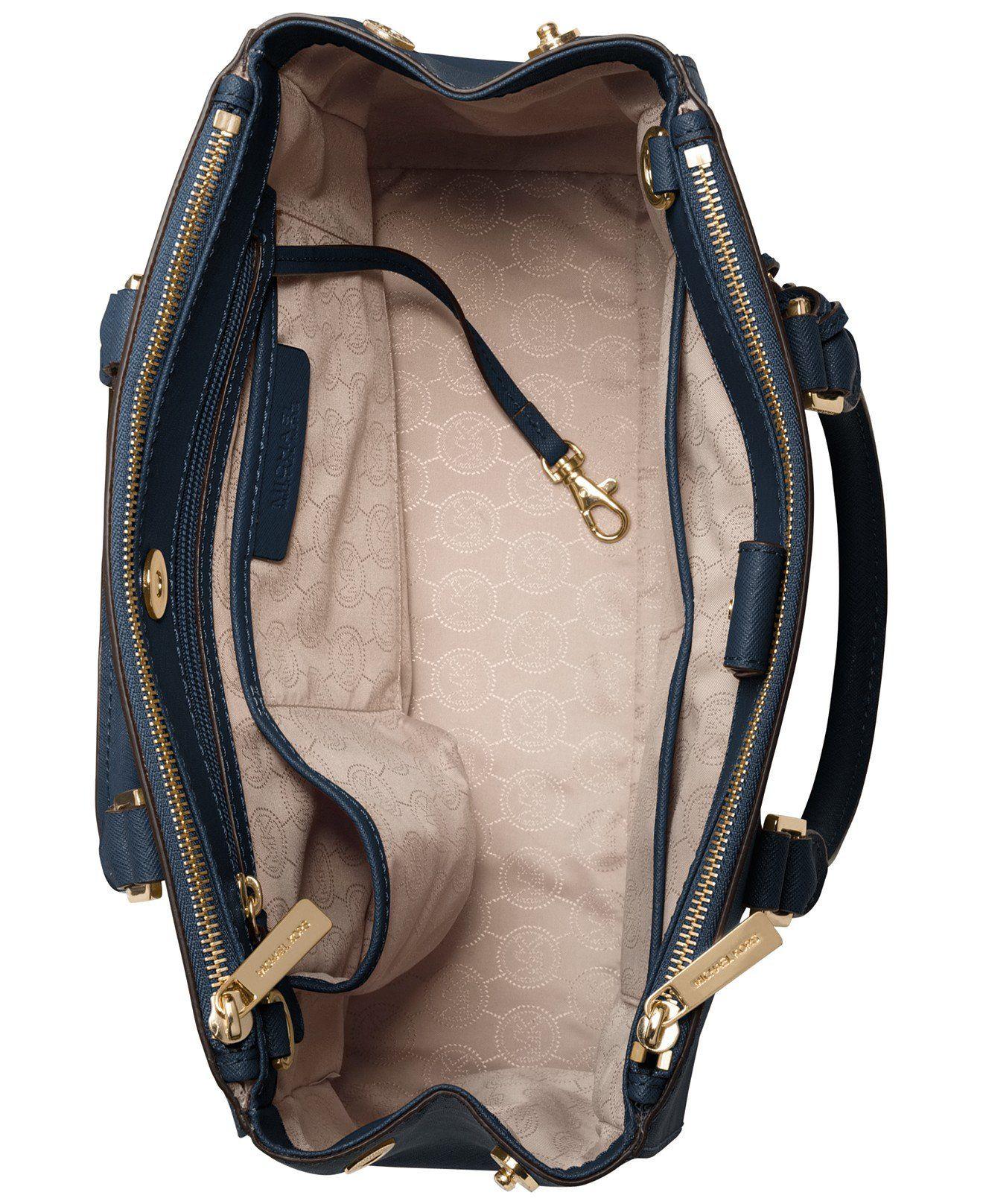Michael Kors Sutton Medium Satchel Electric Blue/Gold: Handbags: Amazon.com