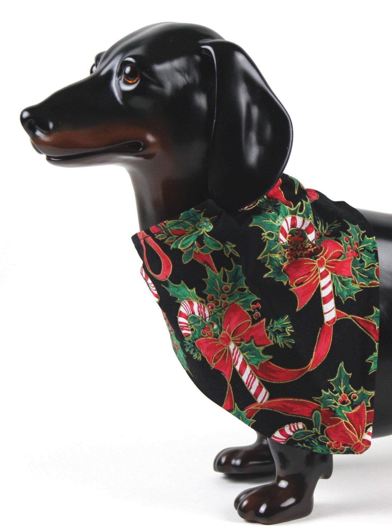 Candy Cane Dog Scarf, Christmas Dog Bandana, Holiday Dog