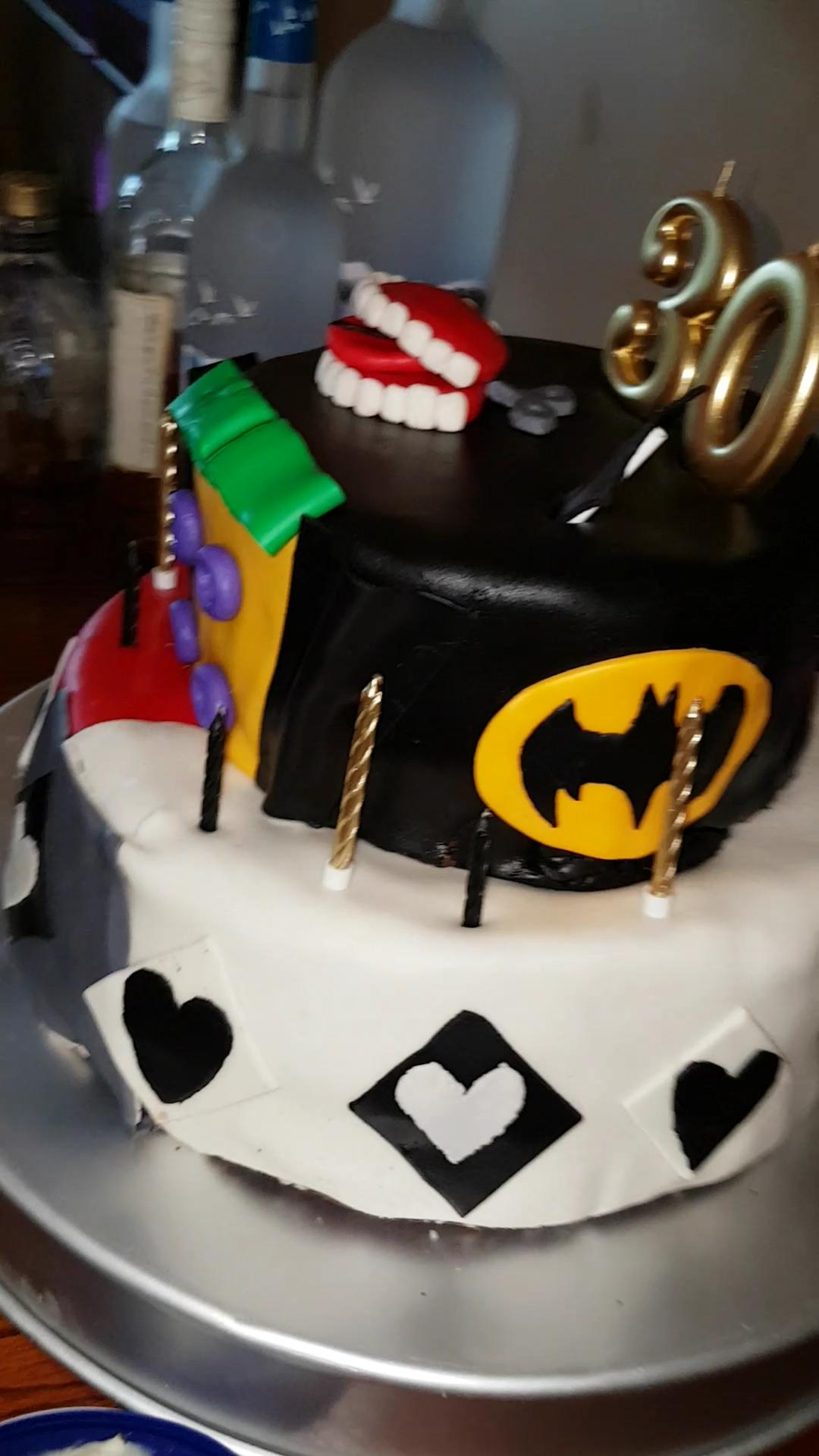 [I ate] Multi-Level Batman fondant cake